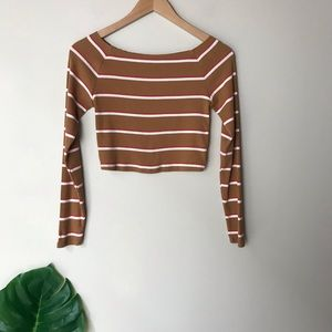 Wild Fable | Striped Off the Shoulder Top NWT M